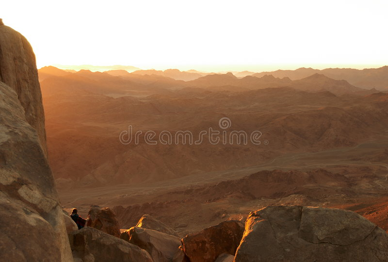 Sinai bergen in vroege ochtend stock afbeelding