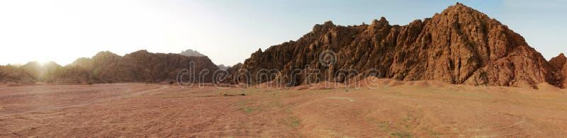 Sinai mountains panoramic stock image