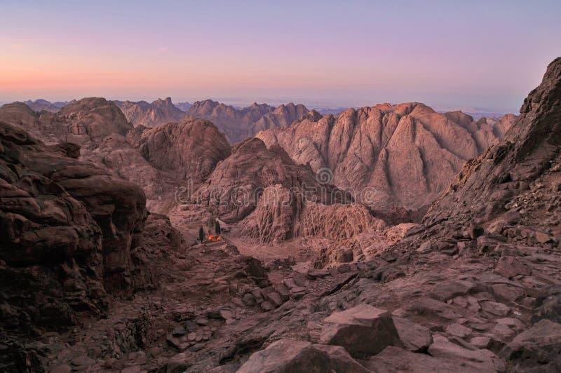 Sinai schemer royalty-vrije stock foto's