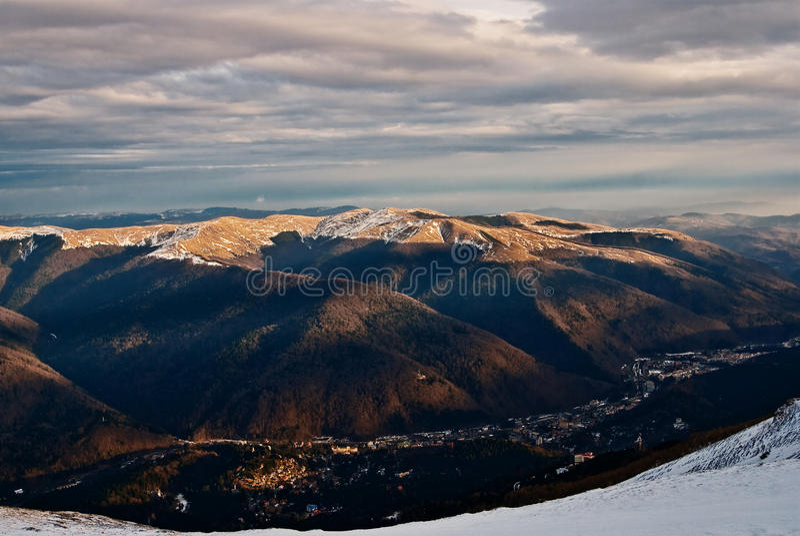 Sinaia landscape royalty free stock photo