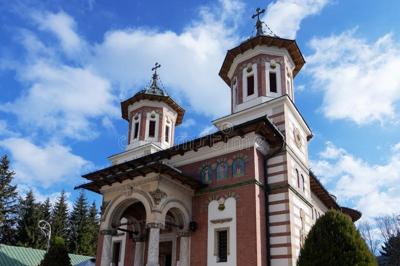 Sinaia Monastery in Romania royalty free stock photos