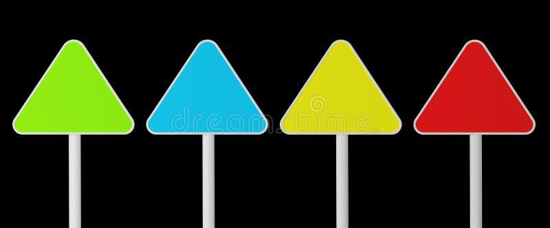 sinais da cor de Três-carvão ilustração do vetor