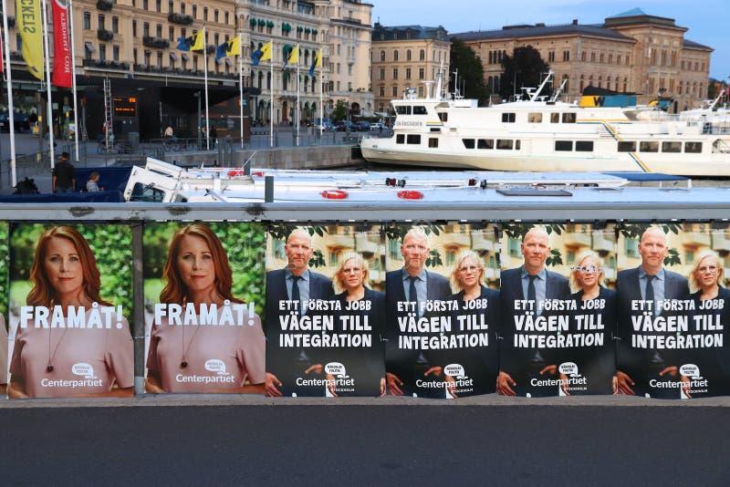 Sinais da eleição da Suécia imagem de stock