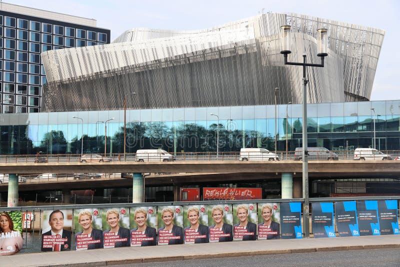 Sinais da eleição da Suécia fotografia de stock royalty free