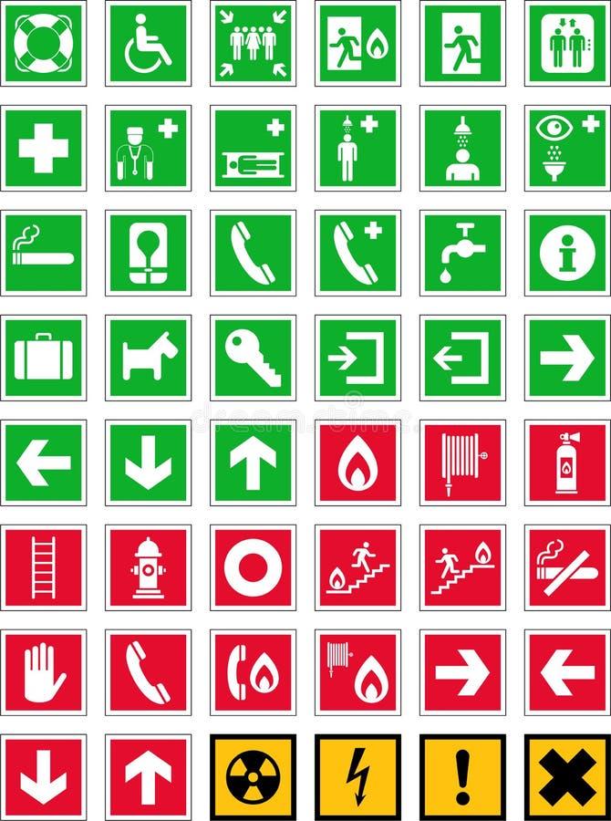 Sinais da emergência ilustração stock