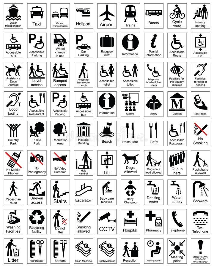 Sinais da informação pública ilustração royalty free