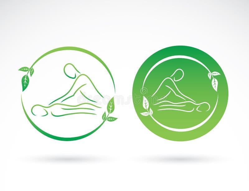 Sinais da massagem ilustração royalty free