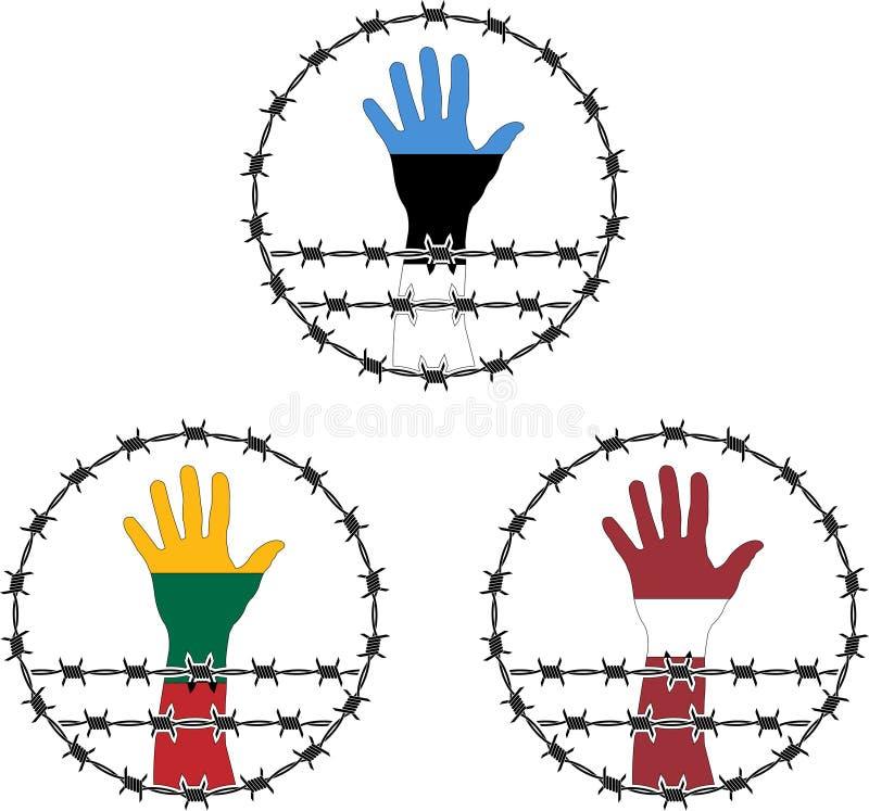 Sinais da ocupação dos Estados Bálticos ilustração royalty free