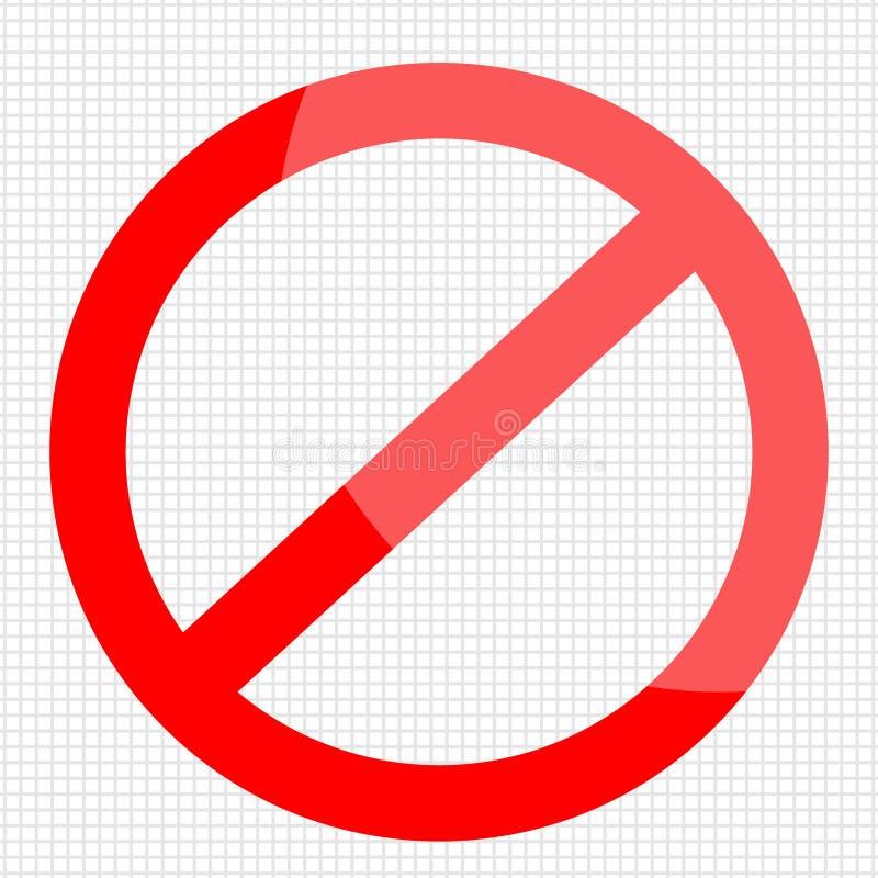 Sinais da parada e entrada proibida ilustração do vetor
