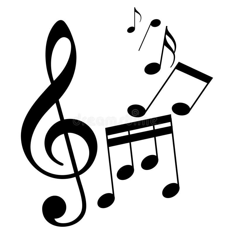 Sinais da partitura como o símbolo da melodia ilustração royalty free