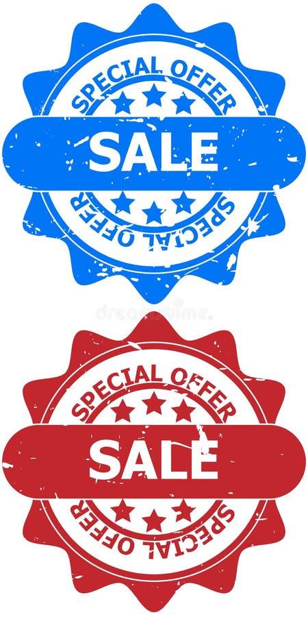 Sinais da venda da oferta especial ilustração stock