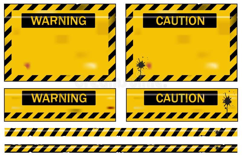 Sinais de aviso ilustração do vetor