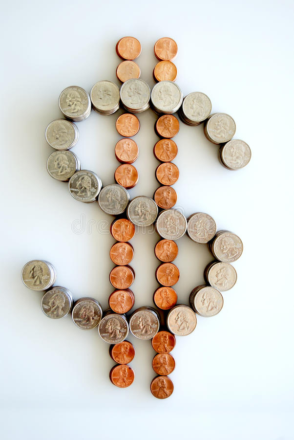 Sinais de dólar imagens de stock royalty free