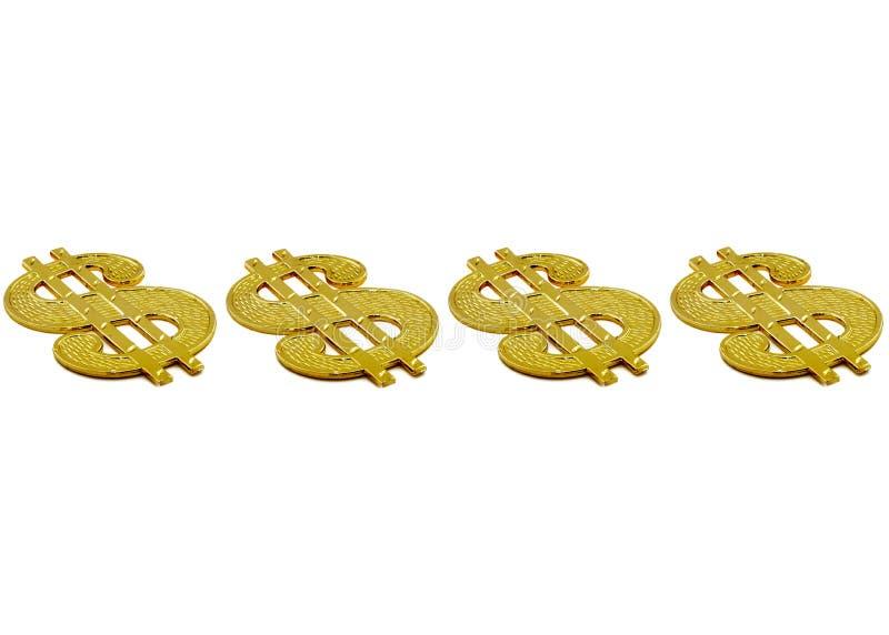 Sinais de dólar imagem de stock royalty free