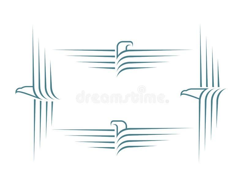 Sinais de Eagle ilustração royalty free