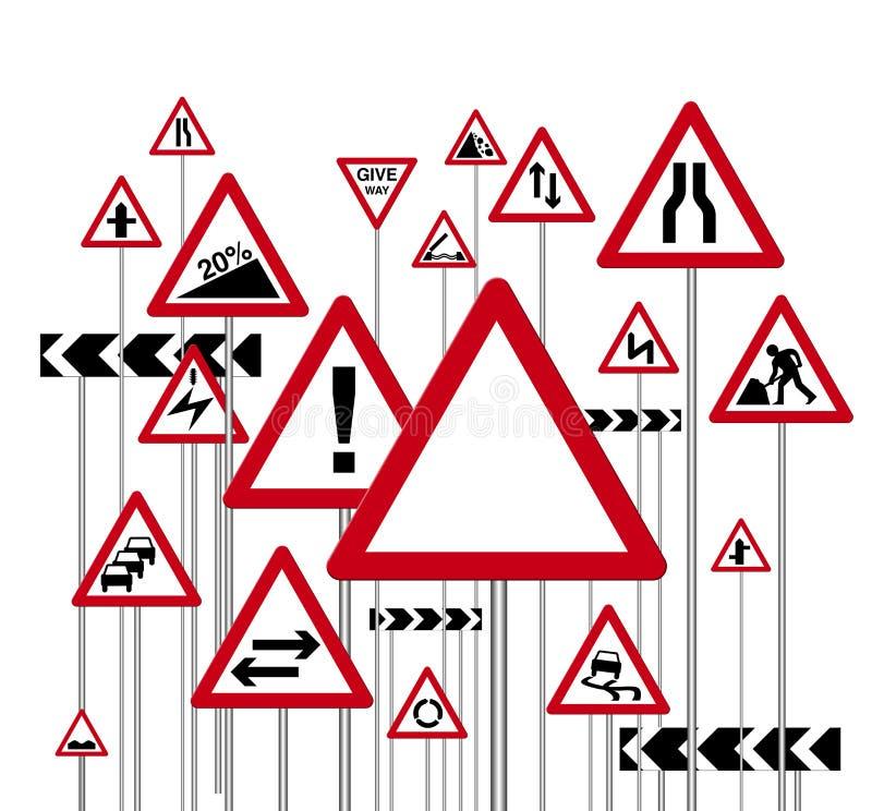 Sinais de estrada ilustração stock