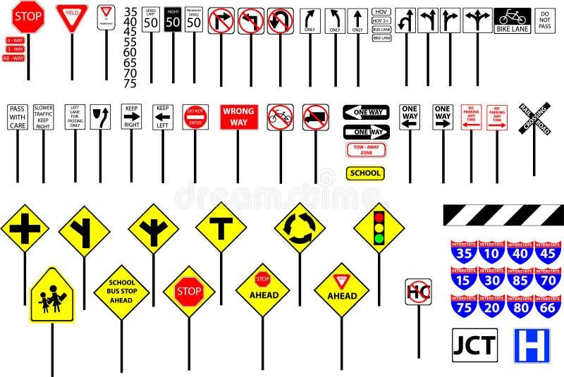 Sinais de estrada ilustração do vetor
