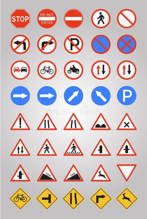 Sinais de estrada ilustração royalty free