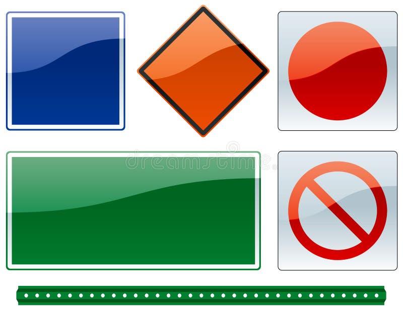 Sinais de estrada comuns 2 ilustração do vetor