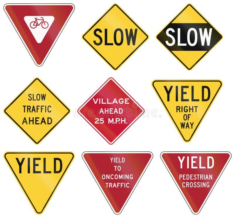 Sinais de estrada reguladores do Estados Unidos MUTCD ilustração royalty free