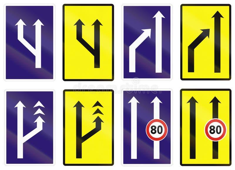 Download Sinais De Estrada Usados Em Eslováquia Ilustração Stock - Ilustração de direita, pistas: 65576428