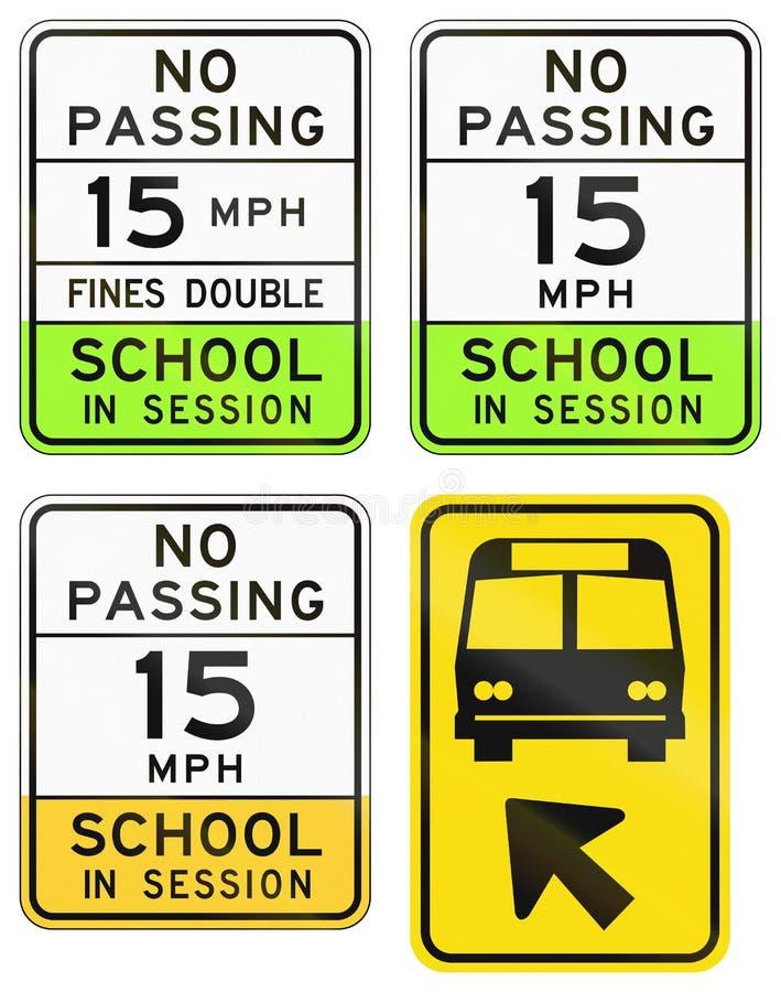 Sinais de estrada usados no estado de E.U. do Arizona ilustração royalty free