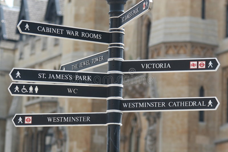 Sinais de Londres fotografia de stock