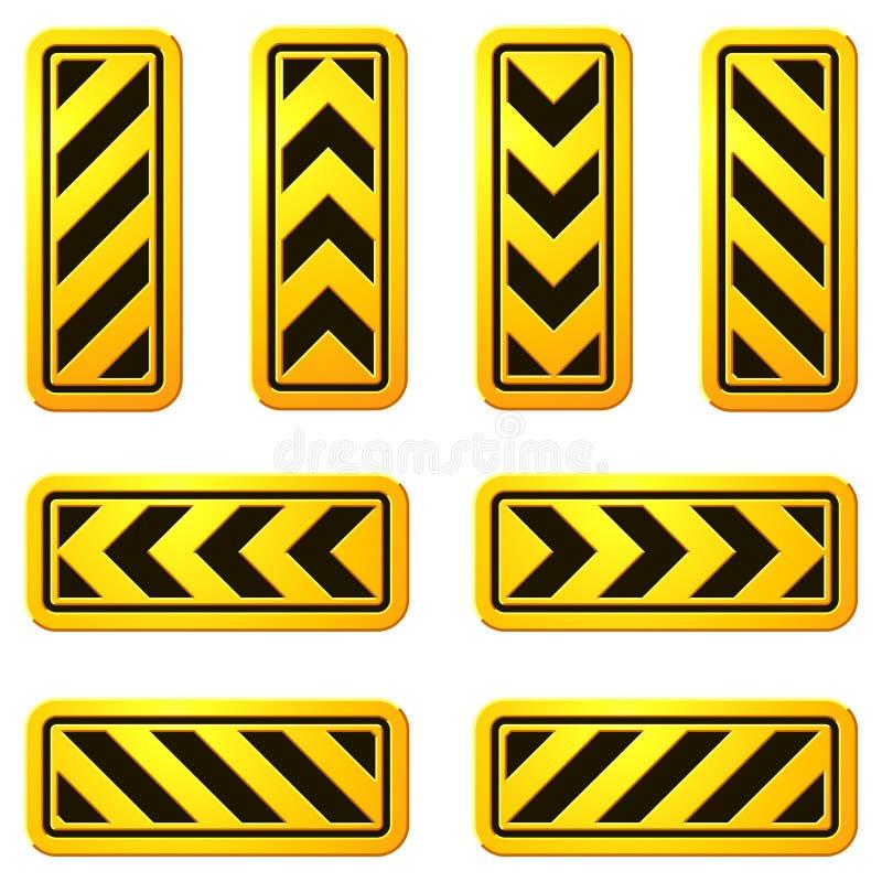 Sinais de rua 07 do perigo e do cuidado ilustração stock