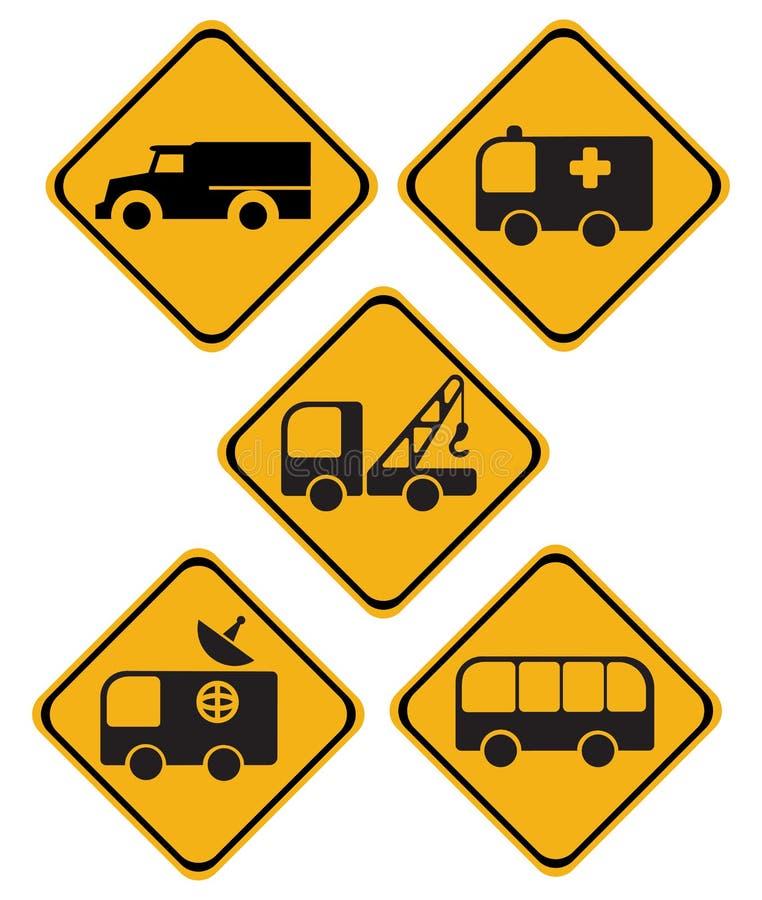 Sinais de tráfego ilustração do vetor