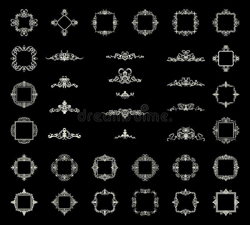 Sinais do flourish do negócio e beira clássica do logotipo ilustração royalty free