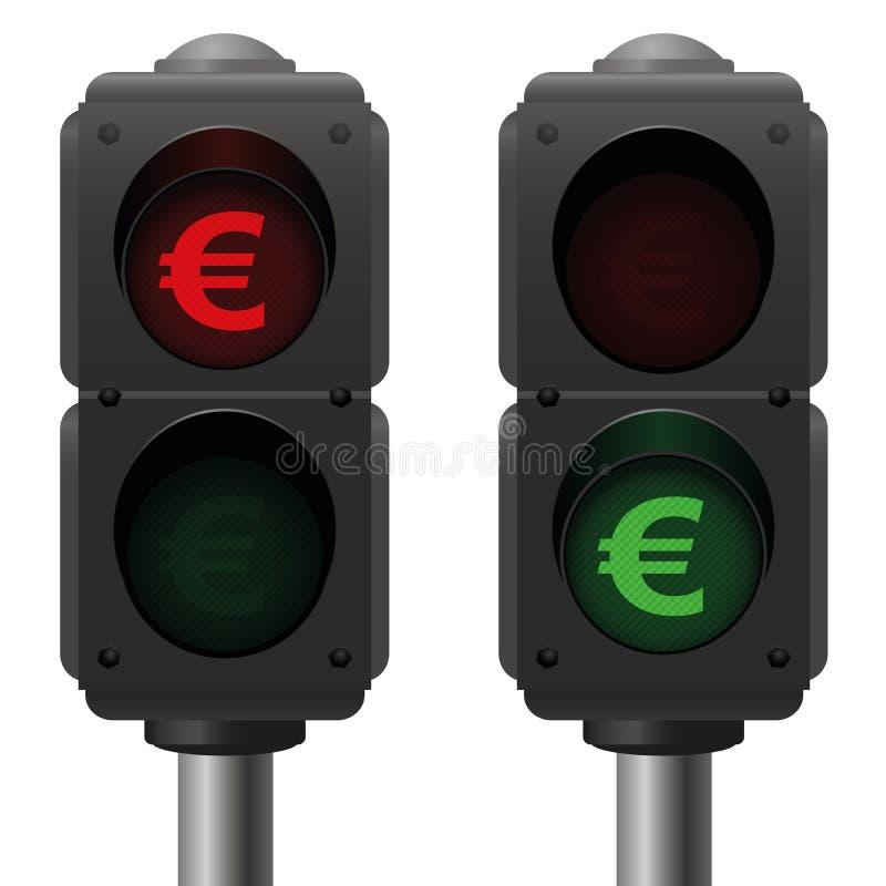 Sinais do símbolo do negócio do Euro ilustração royalty free