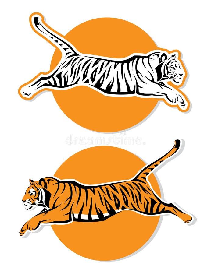Sinais do tigre ilustração stock