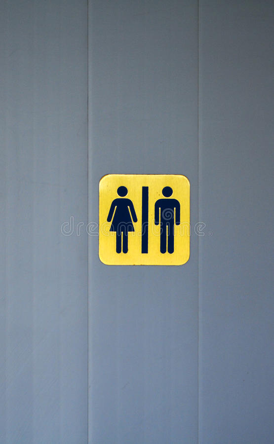 Sinais do toalete imagens de stock royalty free