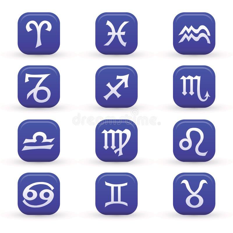 Sinais do zodíaco ilustração stock