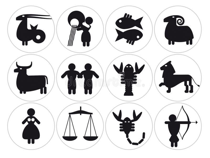 Sinais do zodíaco ilustração royalty free