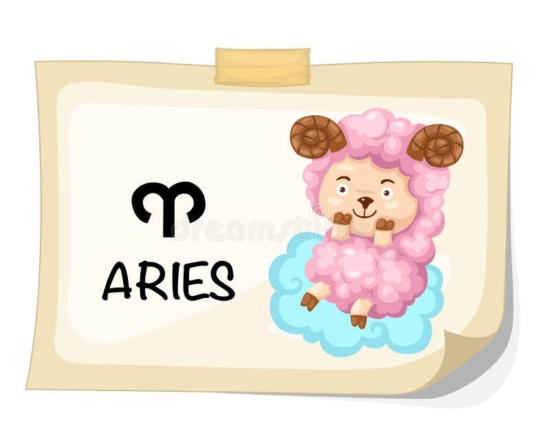 Sinais do zodíaco - Aries ilustração stock
