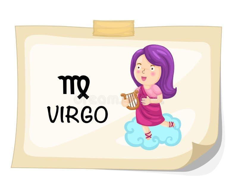 Sinais do zodíaco - Virgo ilustração royalty free