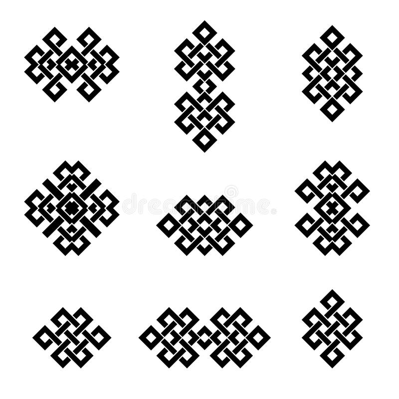 Sinais e símbolos étnicos ilustração royalty free