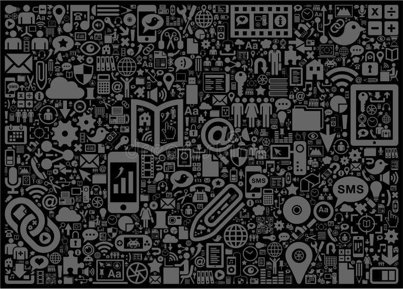 Sinais e símbolos ilustração stock