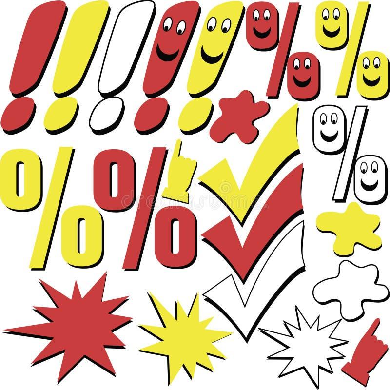 Sinais gráficos ilustração do vetor