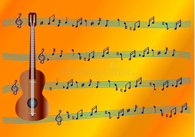 Sinais musicais. ilustração stock