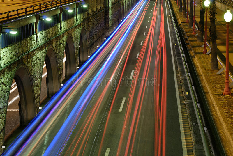 Sinais nocturnos da cidade imagens de stock royalty free
