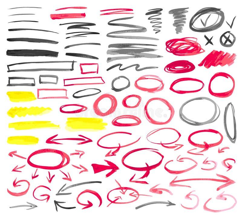 Sinais pintados ilustração royalty free