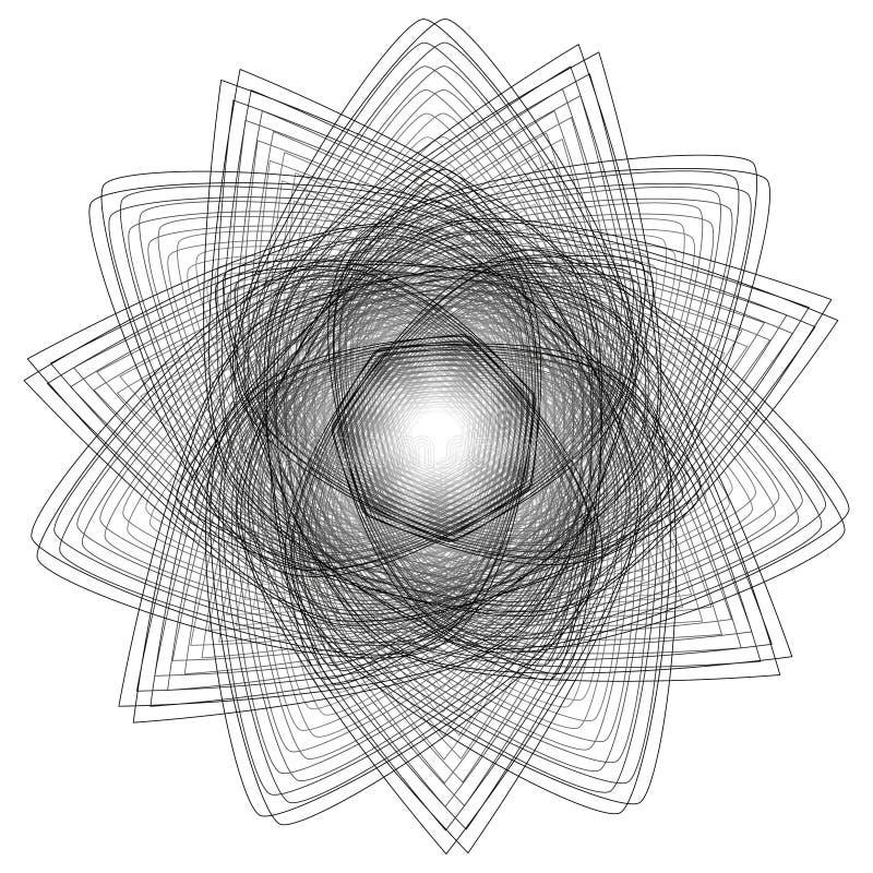 Sinais sagrados da geometria Grupo de símbolos e de elementos A alquimia, religião, filosofia ilustração royalty free