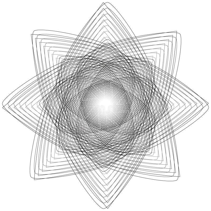 Sinais sagrados da geometria Grupo de símbolos e de elementos A alquimia, religião, filosofia ilustração do vetor