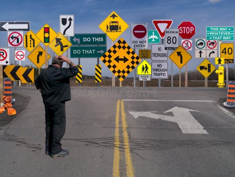 Sinais, sinais em toda parte um sinal. fotos de stock