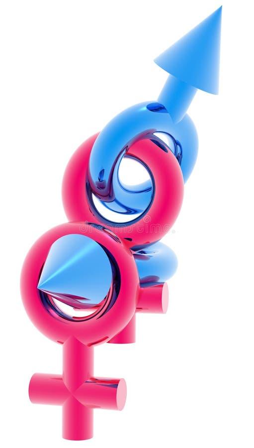 Sinal 3D do boémio   ilustração stock