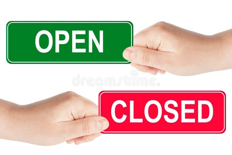 Sinal aberto e fechado fotos de stock royalty free