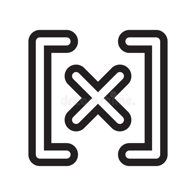 Sinal absoluto e símbolo do vetor do ícone do sinal isolados no fundo branco, conceito absoluto do logotipo do sinal ilustração stock