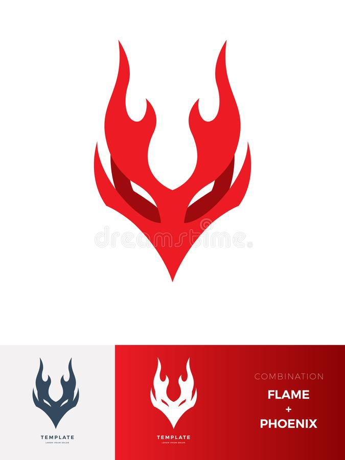 Sinal abstrato da Criatura Flame: Phoenix Ilustração vetorial ilustração do vetor